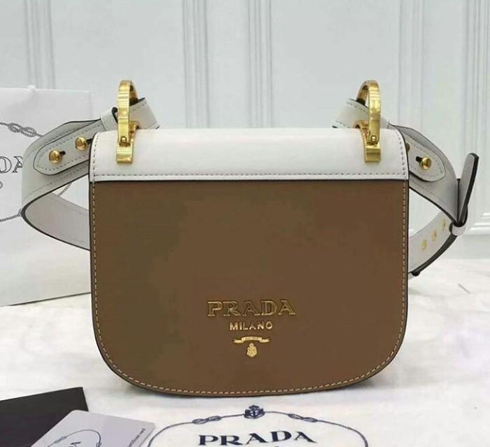 ... handbag new baru original authentic asli murah sale 45cda 11ce3   inexpensive jual tas prada pionniere bag white brown mirror quality 50815  5bcc2 14ebf8e48a