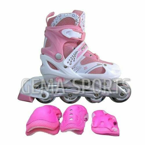 harga Sepatu roda inline skate bajaj 6032 free dekker -pink- Tokopedia.com