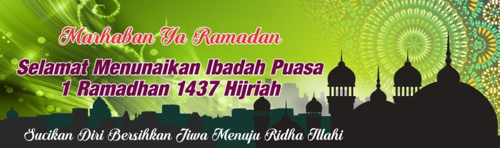 Contoh Spanduk Warung Ramadhan - gambar spanduk