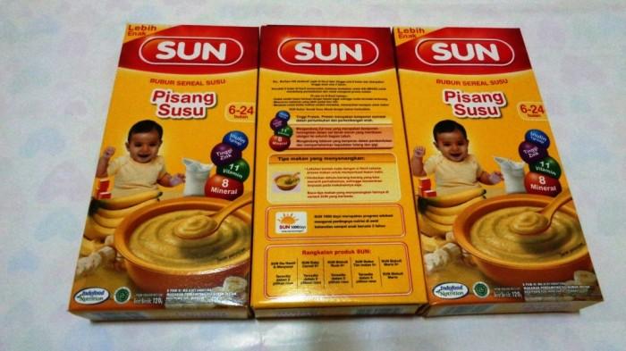 Jual Bubur Bayi Pisang Susu Sun Sereal Susu 120gr Termurah Umur 6
