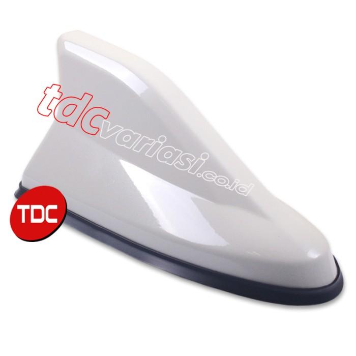 Antena mobil model hiu aktif universal hybrid putih   tdc variasi