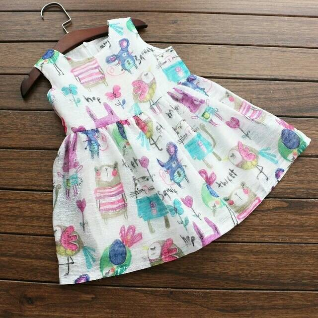harga Baju dress anak import chiffon animal printing Tokopedia.com