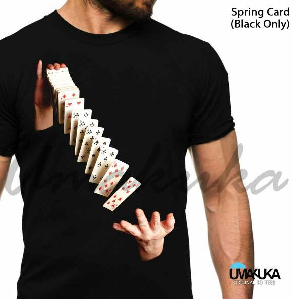 harga Kaos distro 3d umakuka - all about cards ( 5 model unik ) Tokopedia.com