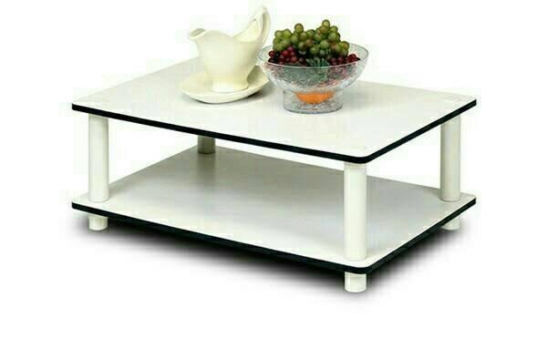 Meja Ruang Tamu Minimalis Putih Rak Tv Multifungsi
