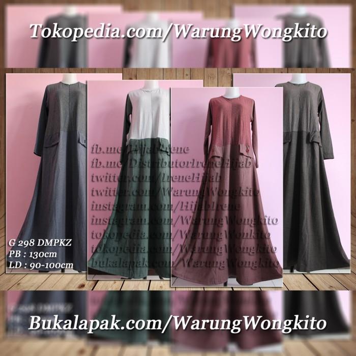 Foto Produk G298DMPKZ/G 298 DMPKZ IRENE HIJAB MAXI GAMIS DRESS FASHION MUSLIMAH dari Warung Wongkito