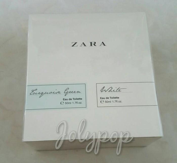 Jual Zara White Turquoise Green Edt Set Parfum Original Kota