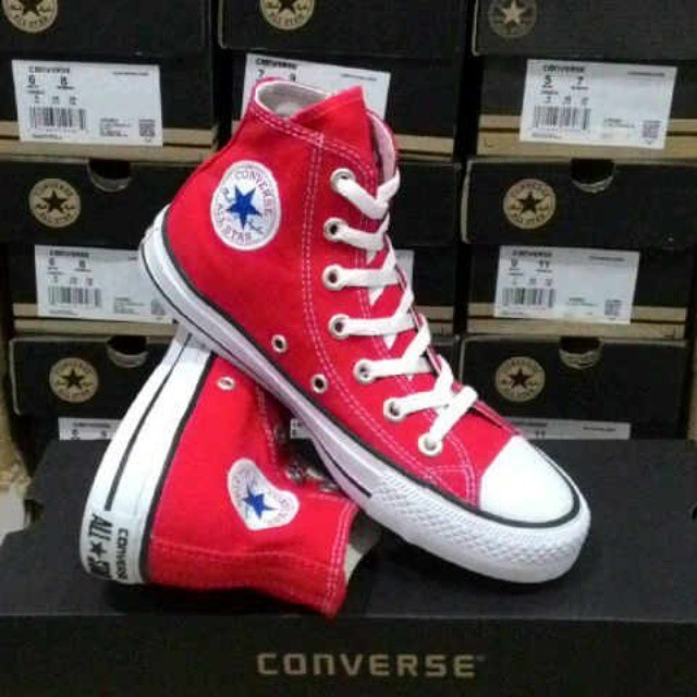 Jual sepatu converse high merah   sepatu terbaru   sepatu murah ... 637f626906