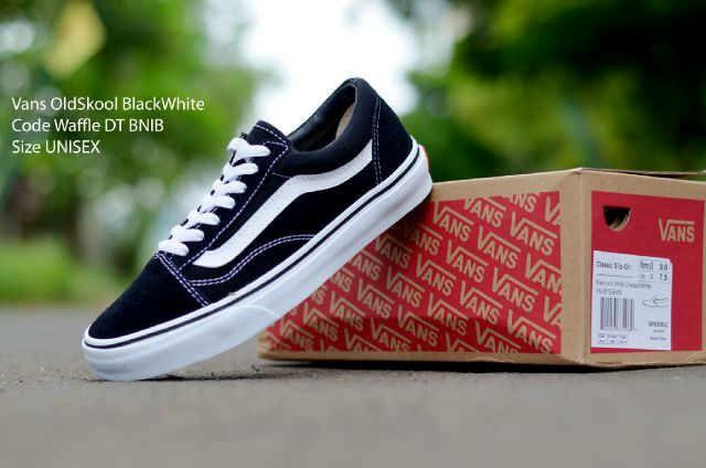 Jual Sepatu Vans Old Skool Black White Waffle DT BNIB Premium Import ... 6cdf77a37