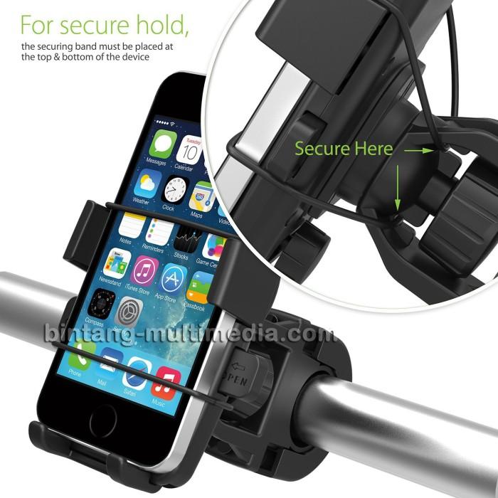 harga Bracket holder stang motor bike sepeda hp gps handphone tali pengaman Tokopedia.com