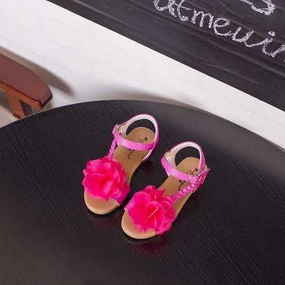 harga Sepatu sandal anak hot pink daisy Tokopedia.com