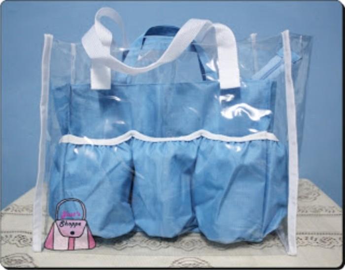 harga Paket baby diaper bag polos organizer & tas mika transparan tas bayi Tokopedia.com