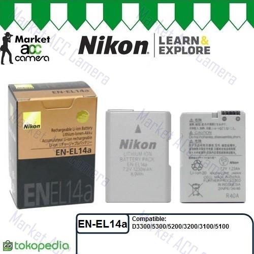 harga Battery Nikon En-el14a/enel14a (d3100/d3200/d3300/d5100/d5200/d5300) Tokopedia.com