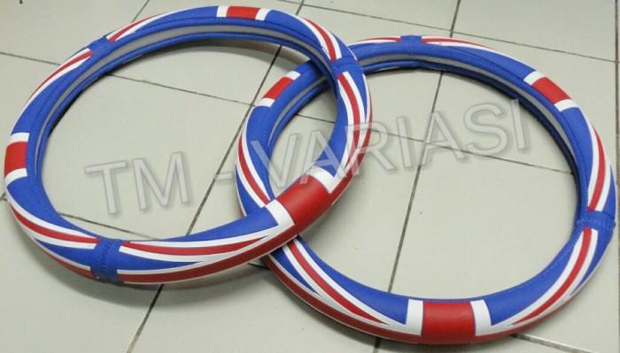 harga Sarung stir mobil racing bahan silikon motif bendera Tokopedia.com