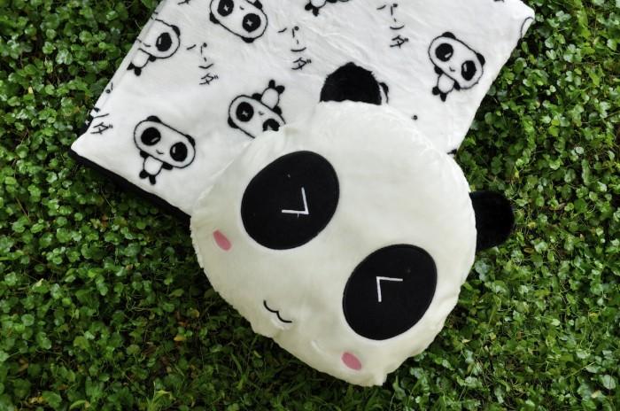 harga Bantal Selimut (balmut) Shy Panda Tokopedia.com