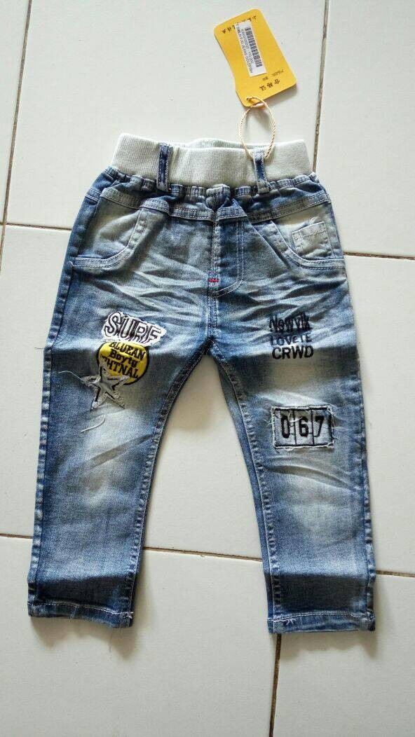 harga celana anak laki-laki: celana panjang jeans goldfish Tokopedia.com