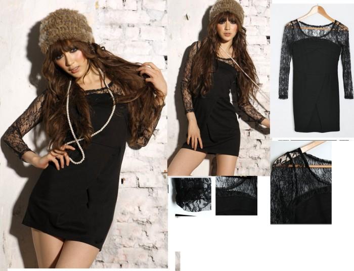 Jual Dress Import Black Variasi Brukat Tangan Panjang 2978 Kota Cirebon Verina Shop Tokopedia