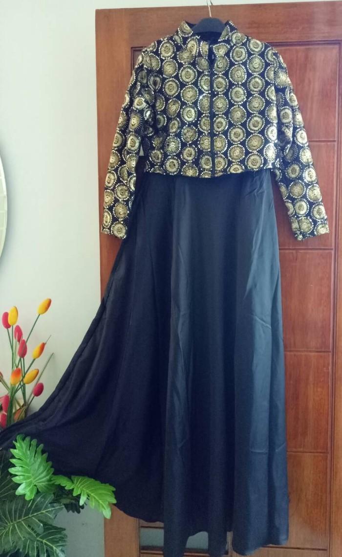 Segini Daftar Harga Gaun Pesta Gamis Lebaran Murah Terbaru 2018 Cn 75131 Nabila Set Maxi L Syari Hijab Baju Muslim Wanita Cantik  Hari Raya Idul Fitri Gambar