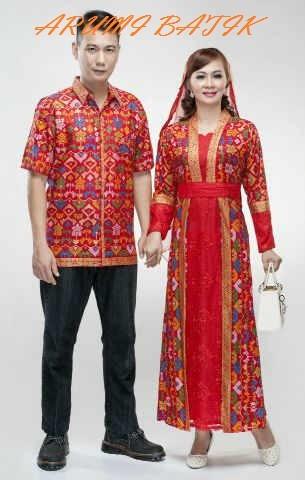harga Sarimbit pasangan keluarga gamis maxi long dress batik 1627 merah Tokopedia.com