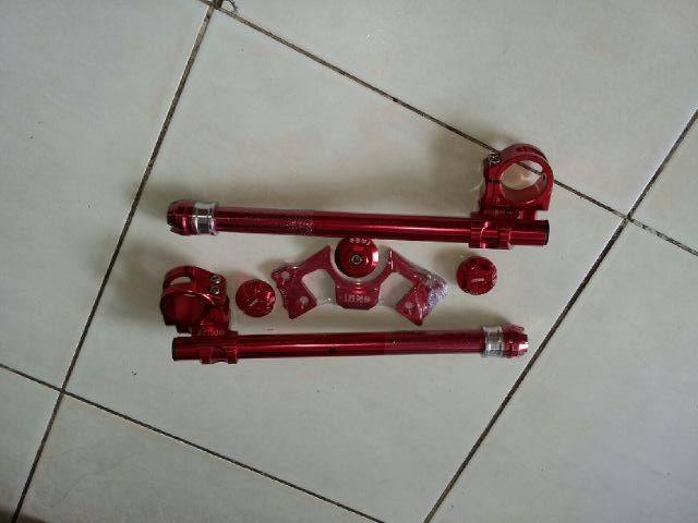 harga Mantap stang set nui bikers ninja 250r ninja 250 fi | stang jepit Tokopedia.com