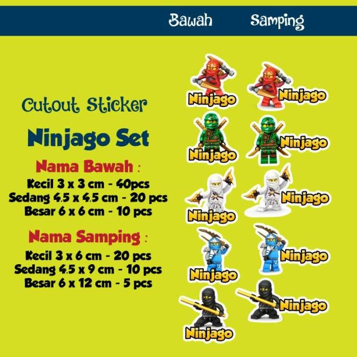 jual stiker label nama tahan air sticker label waterproof ninjago