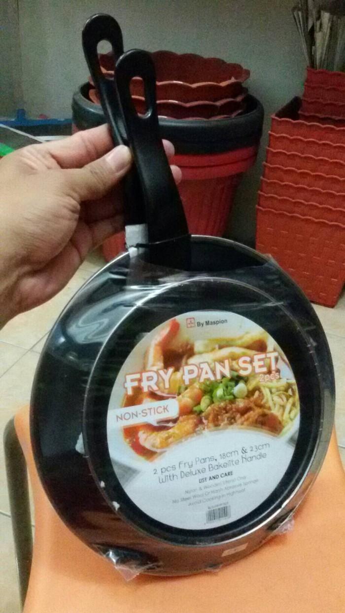 Jual Wajan Kuali Penggorengan Teflon Toko Rahmat Sukses Tokopedia Maspion Frypan Set