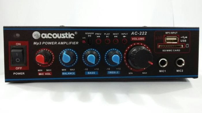 harga Acoustic ac-222 karaoke reverberation power amplifier ac dc usb sd mmc Tokopedia.com