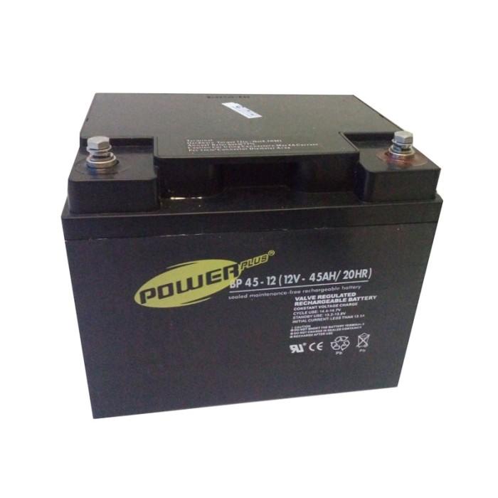 harga Powerplus 12v-45ah aki kering untuk ups (vrla baterai / sla battery) Tokopedia.com