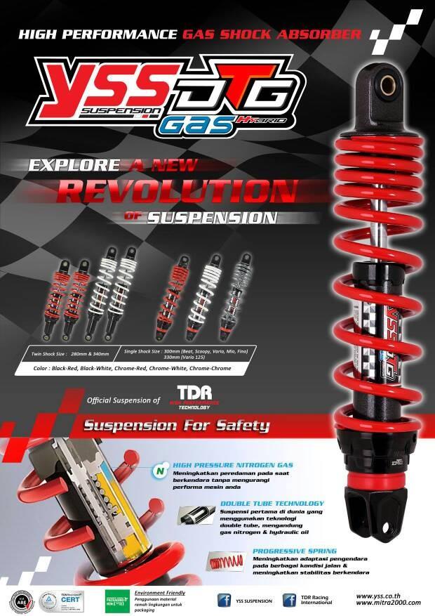 harga Shockbreaker yss new hybrid dtg gas vario 125 / 150, x ride Tokopedia.com