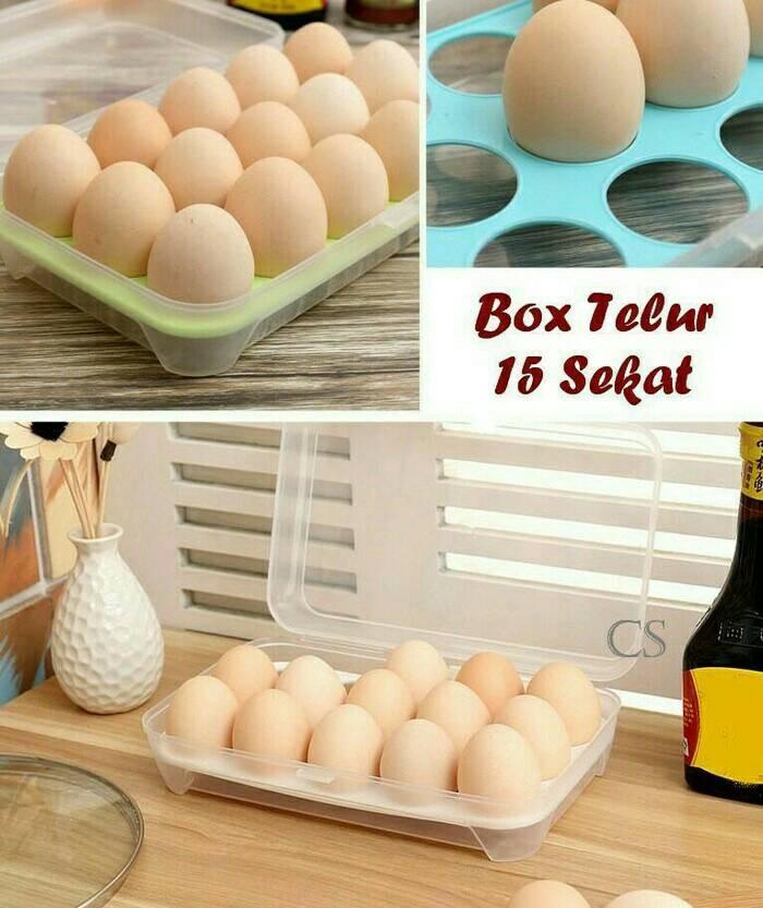 Tempat penyimpanan telur isi 15.kotak telur egg box .