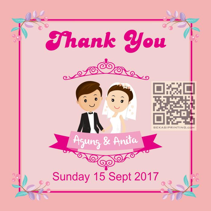 jual 38 kartu ucapan terima kasih souvenir pernikahan