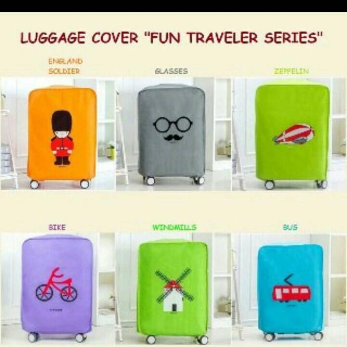 Luggage Cover Fun Traveler Seri Sarung Penutup Pelindung Koper Travel