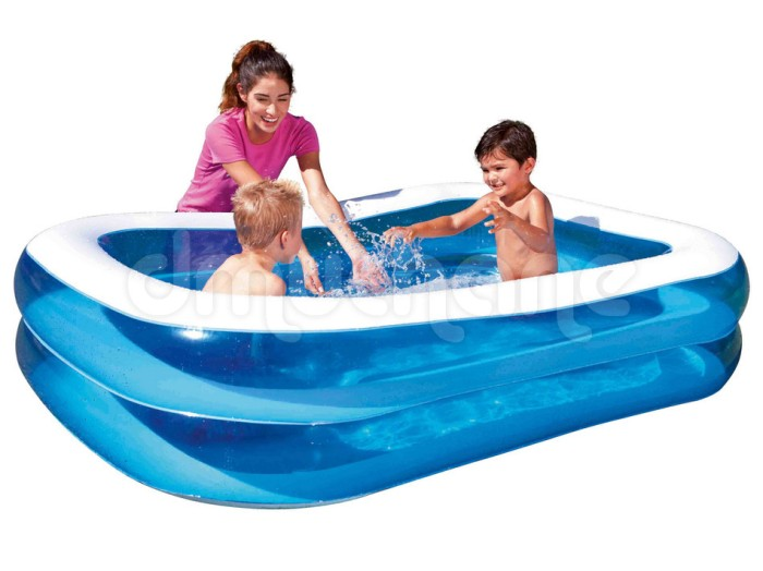harga Kolam renang anak bestway blue rectangular family pool 201cm #54005 Tokopedia.com