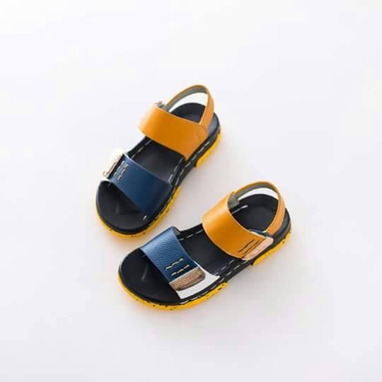 Sandal two strap boy shoes yellow/sepatu sandal anak cowo