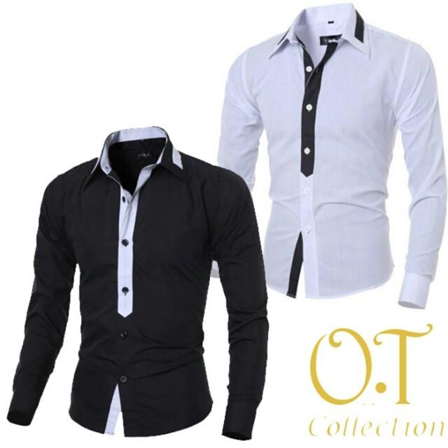harga Jeffren kemeja cowok katun street warna hitam, warna putih, Tokopedia.com
