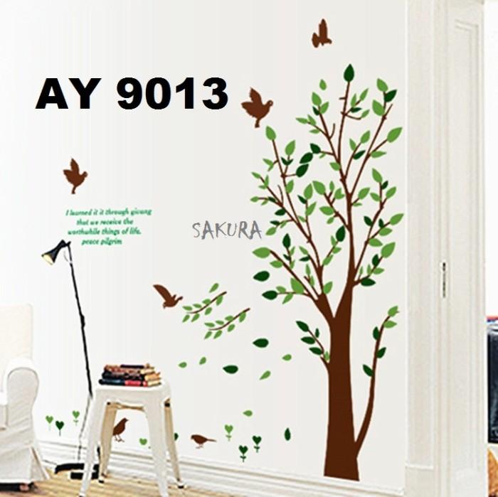 jual wallsticker/wallstiker pohon/stiker dinding ay9013 - kota