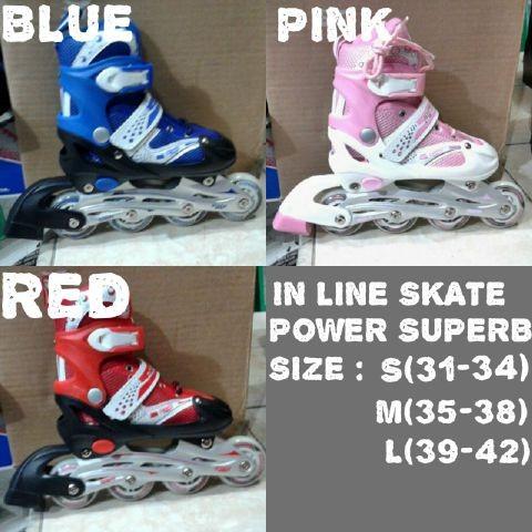 Jual Sepatu Roda InlineSkate Merk Power Super -