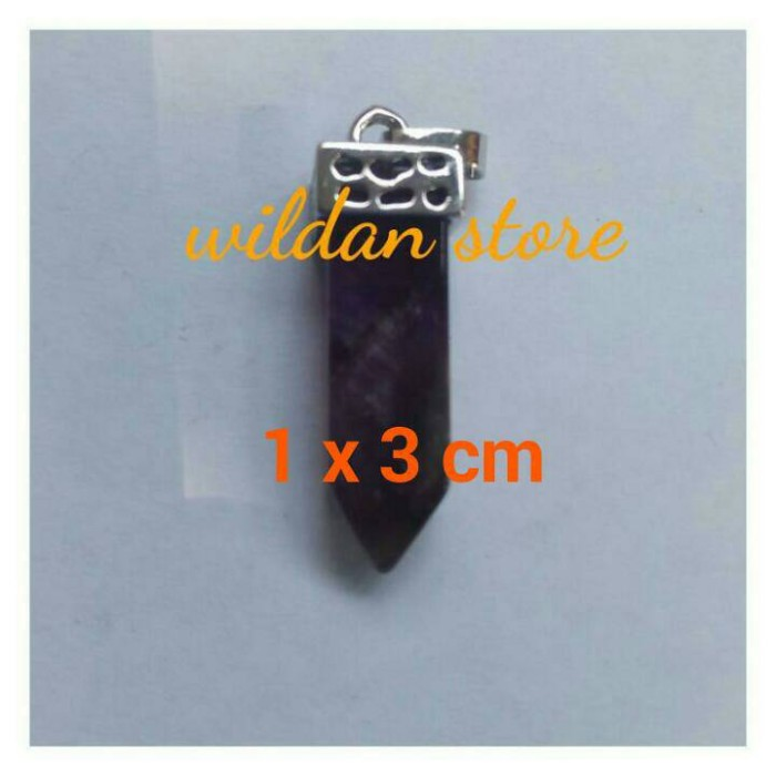 Foto Produk liontin batu trendy mini kecubung ametyst dari wildan-store