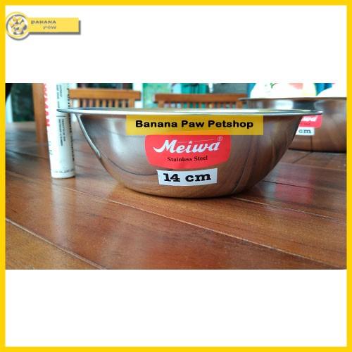 harga Tempat makan anjing dan kucing stainless bowl meiwa 14 cm Tokopedia.com