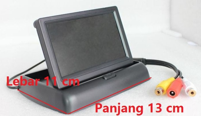 harga Monitor portable mobil 4.3  / 43 inch model lipat dengan 2 av input Tokopedia.com