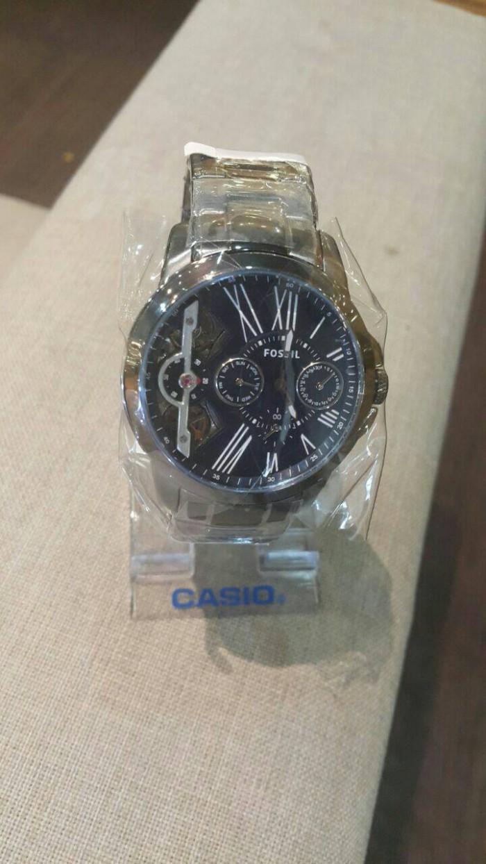 Jual Jam Tangan Fossil Twist Automatic Original Me1146 Watch Jr1502 Nate Chronograph Dark Brown