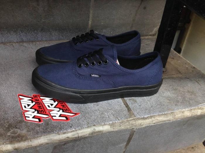 ... sale ba834 ca268 VANS AUTHENTIC DRESS BLUE BLACK sepatu vans sepatu murah ...