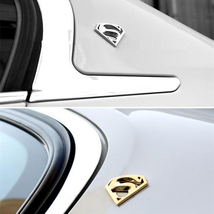 3D Superman Chrome Symbol Metal Decal Badge Auto Emblem Car Motor