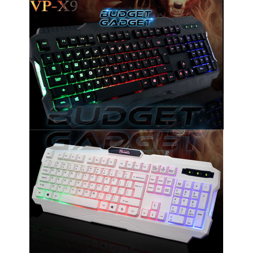 harga Gaming keyboard usb wired  with led backlight - vp-x9 Tokopedia.com