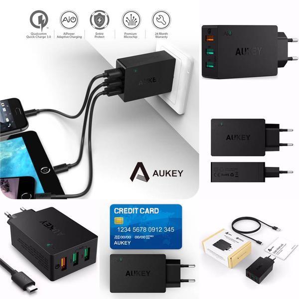 harga Aukey 3 ports usb qualcomm 3.0 turbo charging station pa-t14 Tokopedia.com
