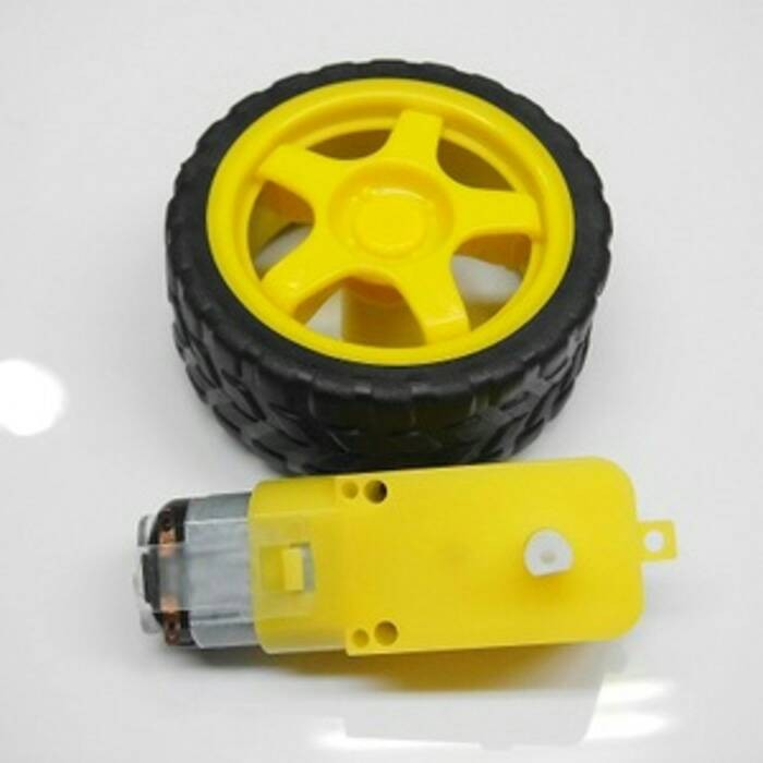 harga Motor Dc Gearbox + Roda Untuk Mobil / Smart Car Tokopedia.com