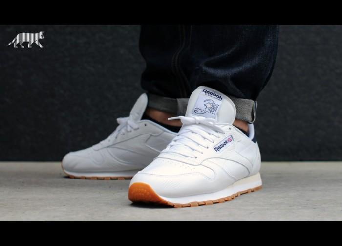 Jual Reebok Classic Leather White Gum Sole Original Shoes Sepatu ... f7fcff7fc