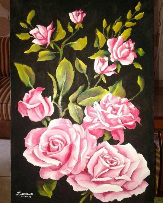 76+ Gambar Bunga Lukisan Paling Keren