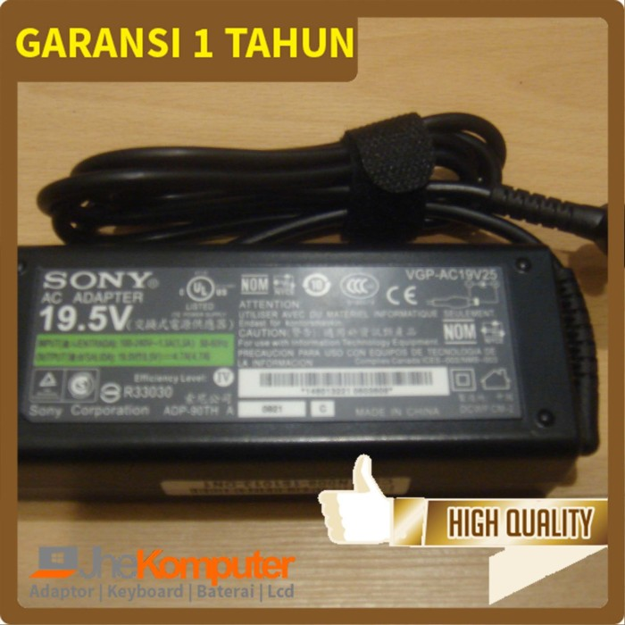 harga Original adaptor charger laptop sony vaio logo - 19.5v 4.7a Tokopedia.com