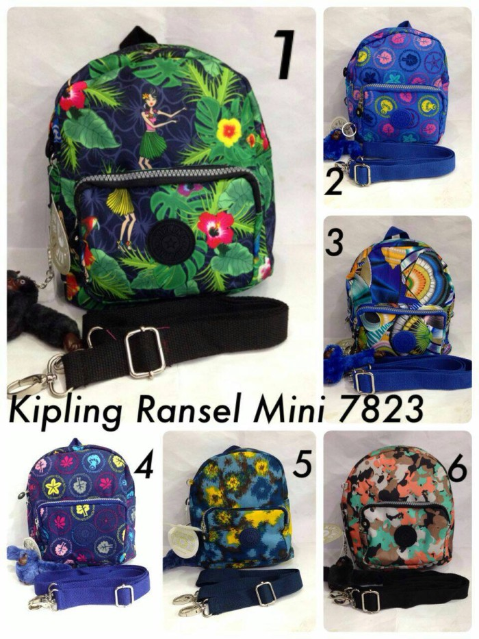 Jual Tas Kipling Mini Motif bisa ransel   slempang - AxelDanisShop ... d4b21a336b