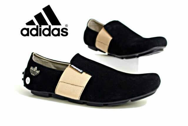 Jual sepatu casual adidas slip on sepatu slop kulit suede cek harga ... 69869354b1